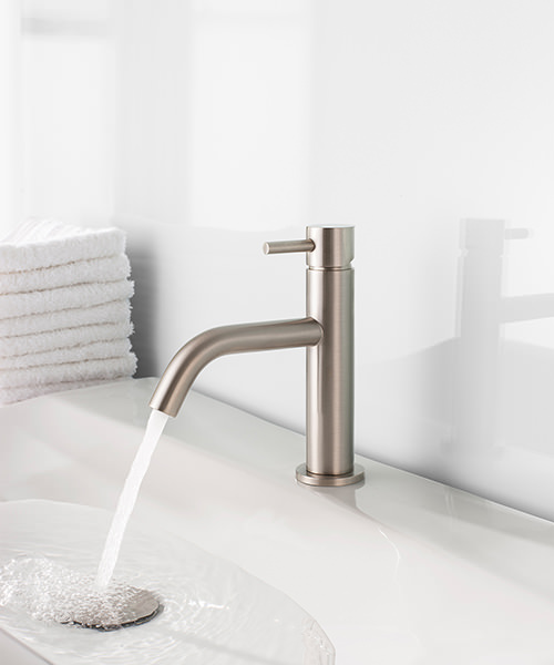 Additional image of Crosswater Mike Pro Monobloc Brushed Stainless Steel Basin Mixer Tap