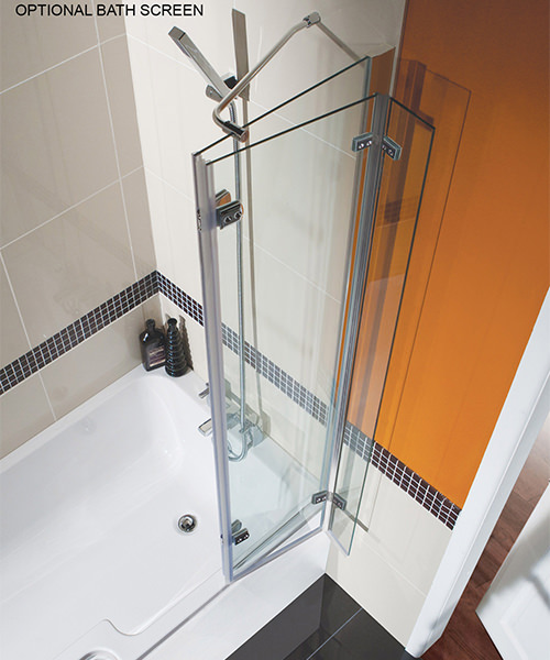 Additional image of Beo Square Left Hand Showerbath 1500 x 850mm