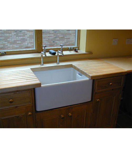 Additional image of Astracast Belfast Gloss White Ceramic Sit-In Sink - 1.0 Bowl