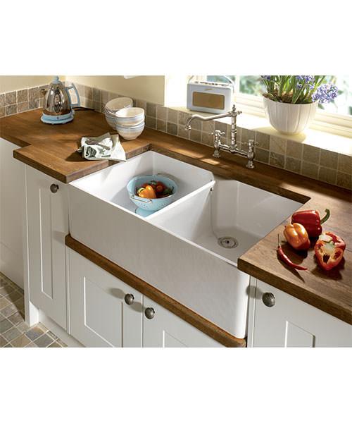 Bathroom Vanities Sudbury: Astracast Sudbury Gloss White Ceramic Sit-In Sink