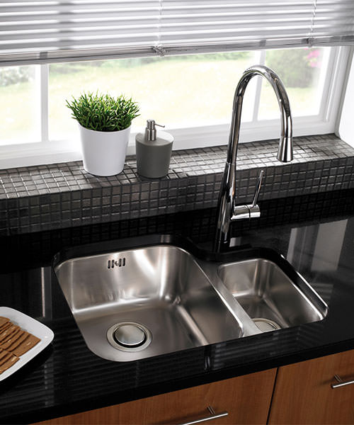 Additional image of Astracast Edge D1 Polished Stainless Steel Undermount Sink - 1.5 Bowl