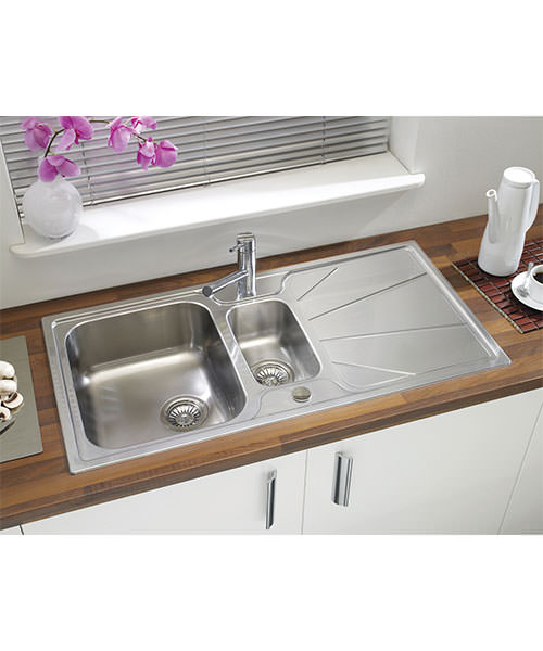 Additional image of Astracast Korona Stainless Steel Inset Sink And Accessories - 1.5 Bowl