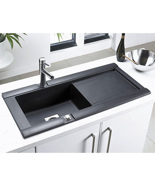 Additional image of Astracast Geo Composite ROK Metallic Inset Sink And Accessories - 1.0 Bowl