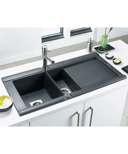 Additional image of Astracast Geo Composite ROK Metallic Inset Sink And Accessories - 1.5 Bowl