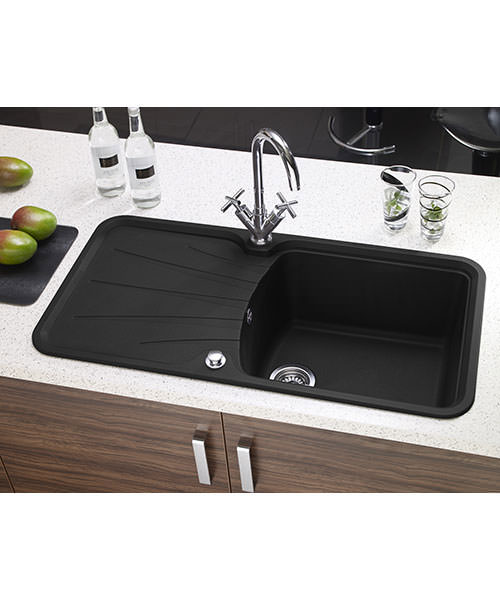 Additional image of Astracast Korona Composite ROK Metallic Inset Sink And Accessories - 1.0B
