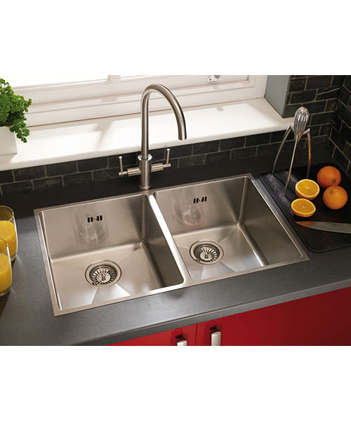 Additional image of Astracast Onyx 4070 Stainless Steel Inset Sink And Accessories - 2.0 Bowl