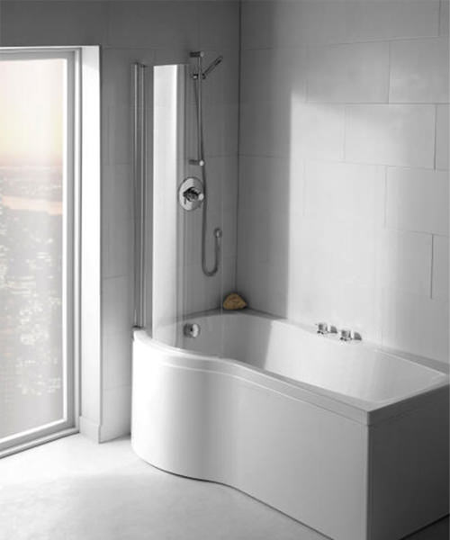 Additional image of Carron Delta 5mm Acrylic Shower Bath 1700 x 800mm Left Handed