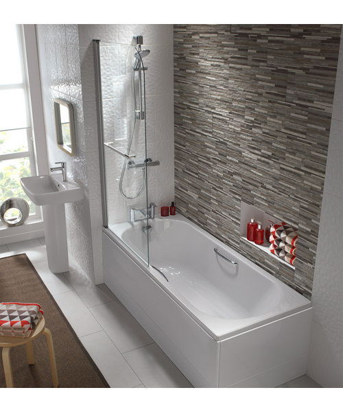 Additional image of Twyford Opal 1700 x 700mm 2 TH 179 Litres Acrylic Bath With Tread And Grips