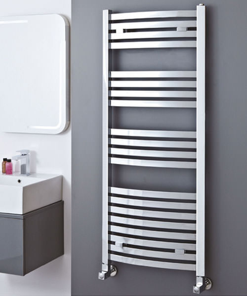 Alternate image of Phoenix Rochelle 500 x 1800mm Curved Pre Filled Electric Radiator