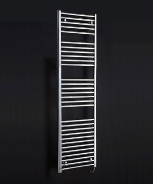 Alternate image of Phoenix Flavia 500 x 1800mm Straight Pre Filled Electric Radiator Chrome