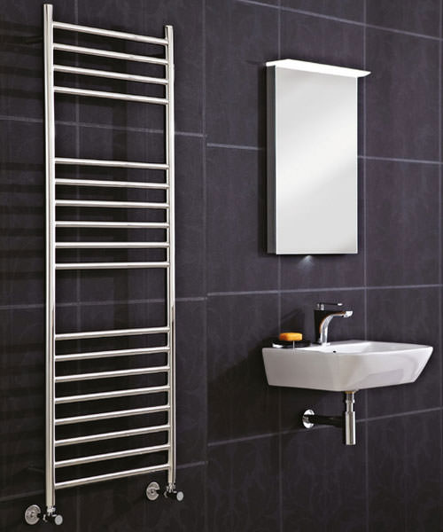 Additional image of Phoenix Athena 350 x 800mm Stainless Steel Radiator