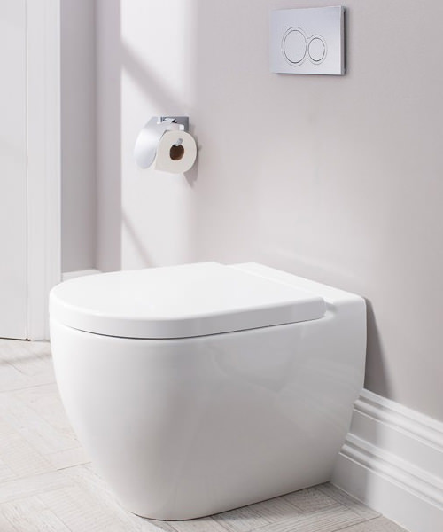 Additional image of Bauhaus Stream II 510mm Back To Wall WC Pan And Soft Close Seat