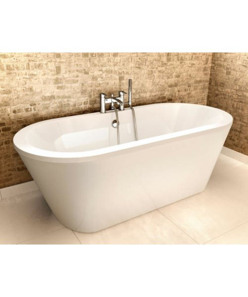 Additional image of Britton Cleargreen Freestark 1740x800mm Double Ended Freestanding Bath