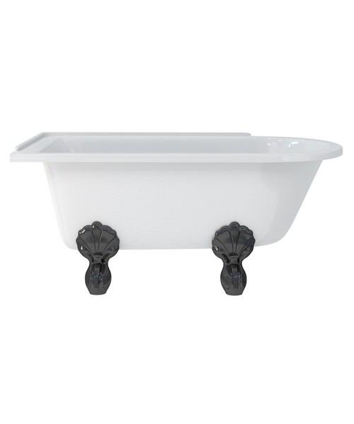 Additional image of Burlington Hampton Left Handed Roll Top Shower Bath - L 1500 x W 750mm