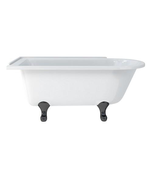 Alternate image of Burlington Hampton Left Handed Roll Top Shower Bath - L 1500 x W 750mm