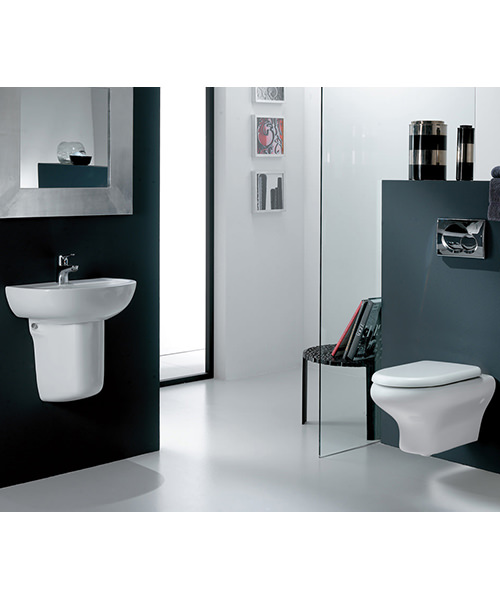 Additional image of RAK Compact Wall Hung Toilet Pan With Urea Soft Close Seat