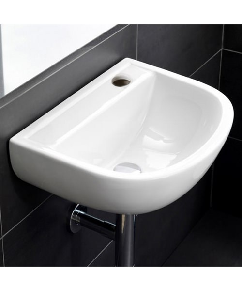 Additional image of RAK Compact Special Needs 380mm Wall Hung Basin