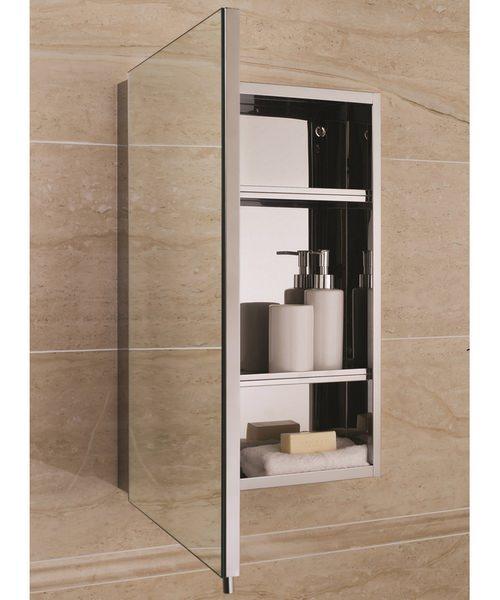 Alternate image of RAK Cube Stainless Steel 1 Door 400 x 600mm Mirror Storage