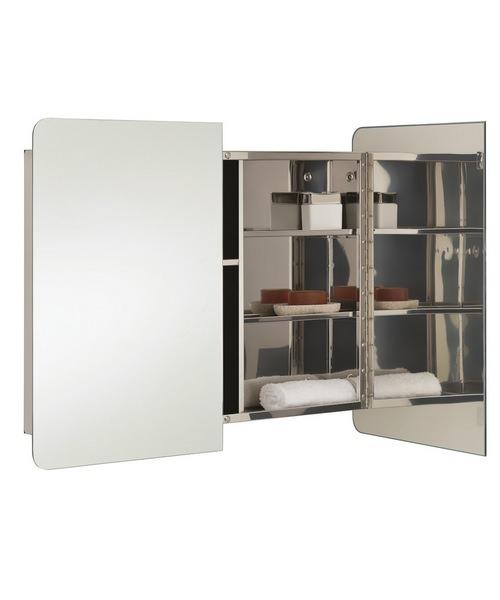 Alternate image of RAK Duo Stainless Steel Double Door 800 x 660mm Mirror Storage