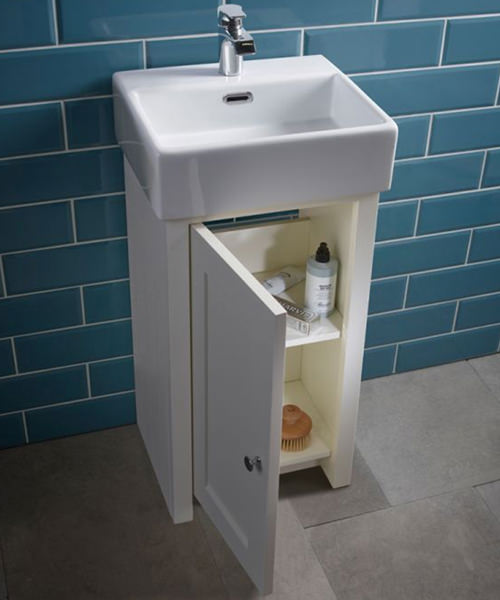 Additional image of Tavistock Lansdown 400mm Single Door Cloakroom Unit With Basin
