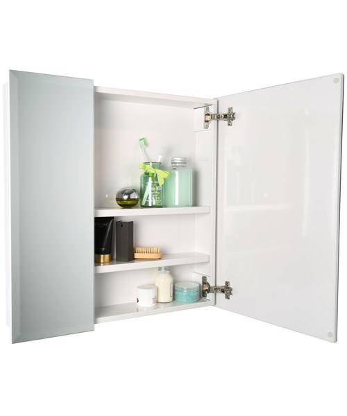 Alternate image of Croydex Wellington Double Door Bi-View White Steel Cabinet