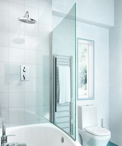 Additional image of Britton Cleargreen EcoCurve 1700 x 750mm Left Hand Shower Bath