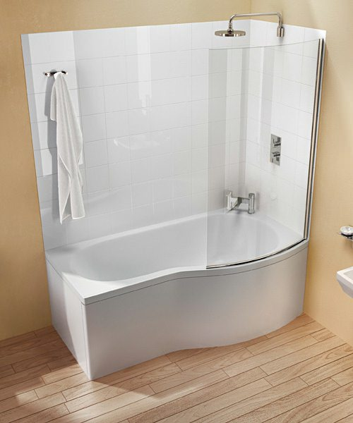 Additional image of Britton Cleargreen EcoRound Shower Bath 1500 x 900mm Left Handed