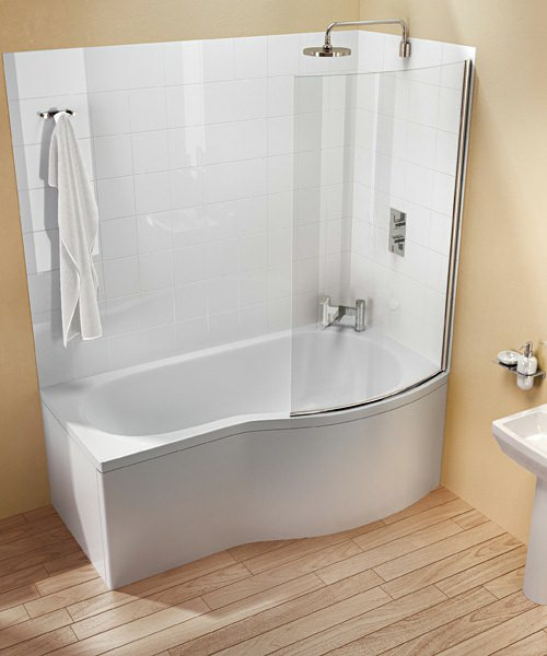 Additional image of Britton Cleargreen EcoRound Right Hand Shower Bath 1500 x 900mm