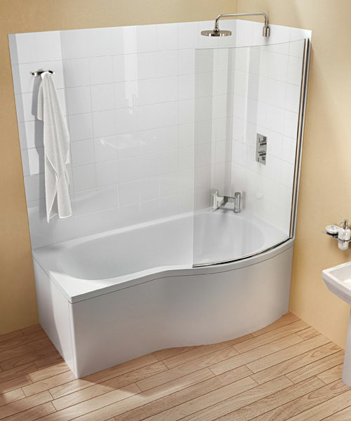 Additional image of Britton Cleargreen EcoRound 1700 x 900mm Right Hand Shower Bath