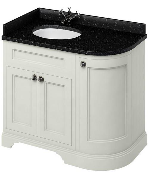 Alternate image of Burlington 1000mm Freestanding Left Hand Curved Corner Vanity Cabinet