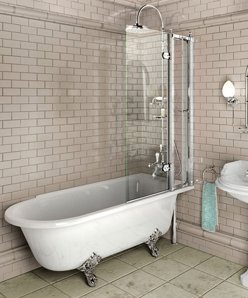 Burlington Hampton Right Hand Freestanding Shower Bath
