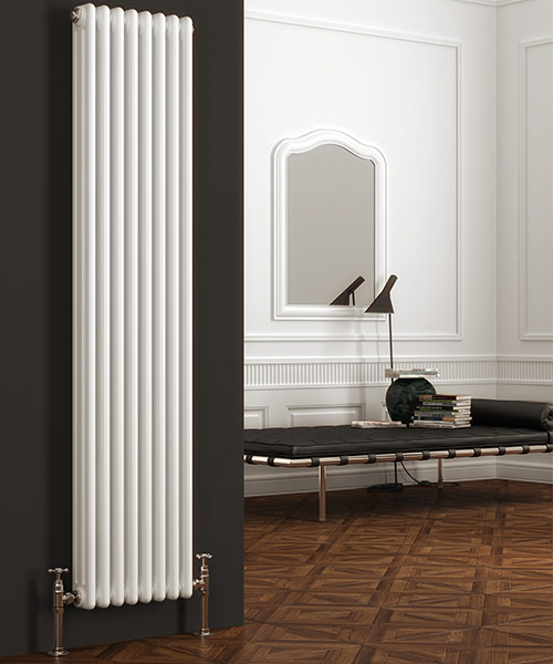Alternate image of Reina Colona White Vertical 3 Column Radiator 380 x 1800mm