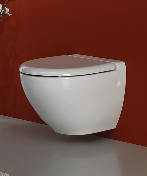 Additional image of RAK Reserva Wall Hung Vitreous China White WC Pan 555mm