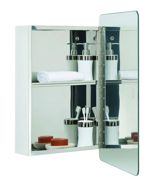 Alternate image of RAK Uno Stainless Steel Hinged Door 460 x 660mm Mirror Cabinet