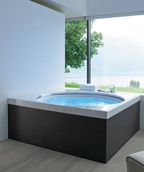 duravit blue moon 1400x1400mm bathtub with support frame. Black Bedroom Furniture Sets. Home Design Ideas