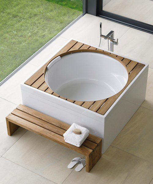 Additional image of Duravit Blue Moon 1400mm Square Bath With Support Frame