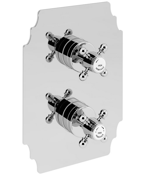 Additional image of Heritage Hartlebury Recessed Thermostatic Valve With Fixed Head Kit