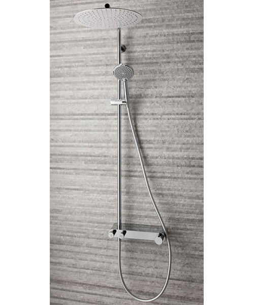Additional image of Crosswater Ethos Thermostatic Shower Valve With Head And Handset