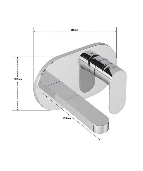 Alternate image of Sagittarius Metro Wall Mounted Basin Mixer Tap