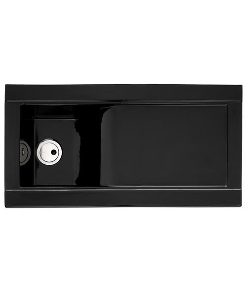 Alternate image of Tydal Abode 1.0 Bowl Kitchen Sink Reversible Black