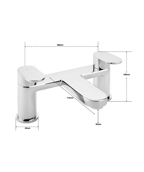 Alternate image of Sagittarius Metro Deck Mounted Bath Filler Tap