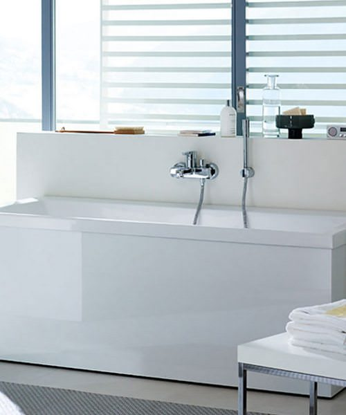 Duravit Vero Double Ended Bath With Two Backrest Slope