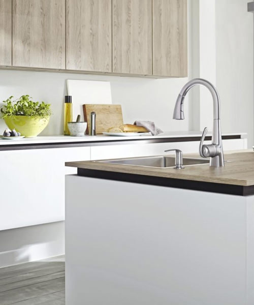 Alternate image of Grohe Zedra Kitchen Sink Mixer Tap Stainless Steel