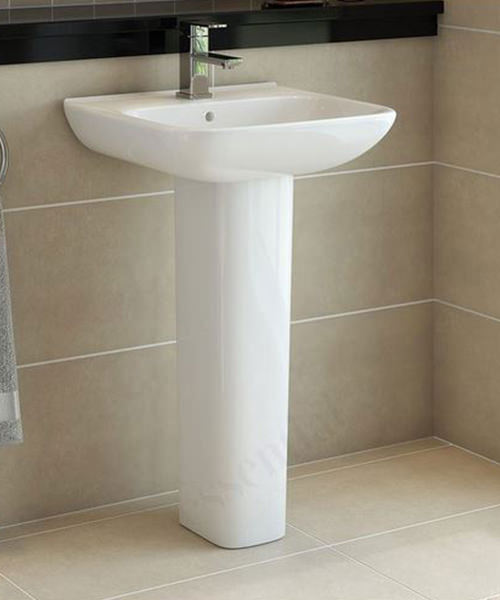 Additional image of Essential Violet 520mm Basin With Single Tap Hole