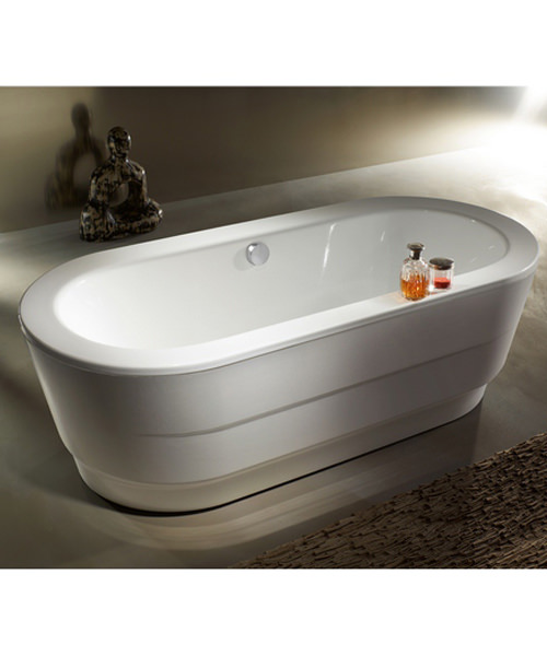 Additional image of Kaldewei Ambiente Classic Duo Oval Wide 115-7 Freestanding Steel Bath