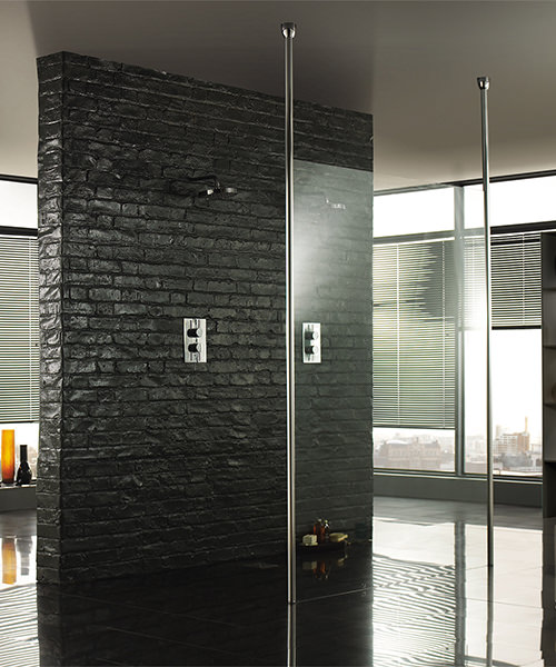 Additional image of Aquadart 3000mm Floor To Ceiling Post For Wetroom Glass Panel