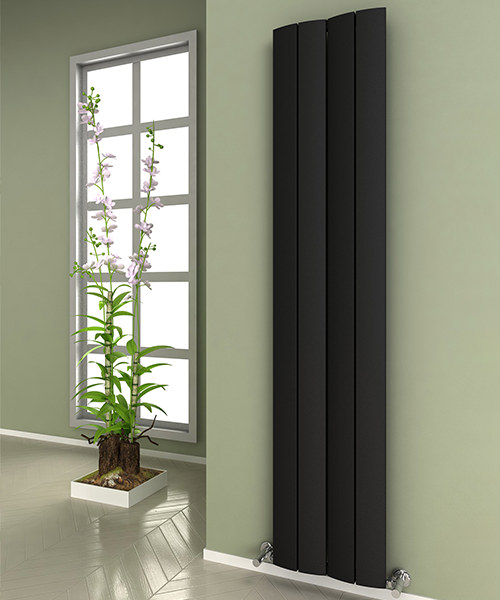 Alternate image of Reina Evago 225 x 1800mm Vertical Aluminium Radiator White