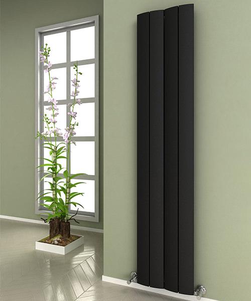Alternate image of Reina Evago 375 x 1800mm Vertical Aluminium Radiator White