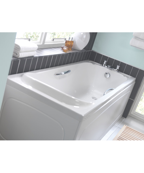 Additional image of Twyford Signature Single Ended Acrylic Bath With Grips 1700 x 700mm