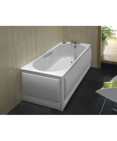 Additional image of Twyford Option Single Ended Acrylic Bath With Grips 1700 x 700mm